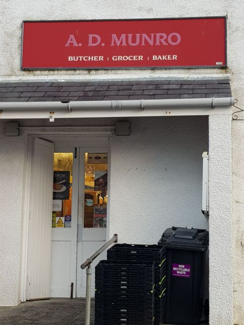 One of the three shops here in Tarbert. Selling everything you could need or want. Shops arent open on sundays.